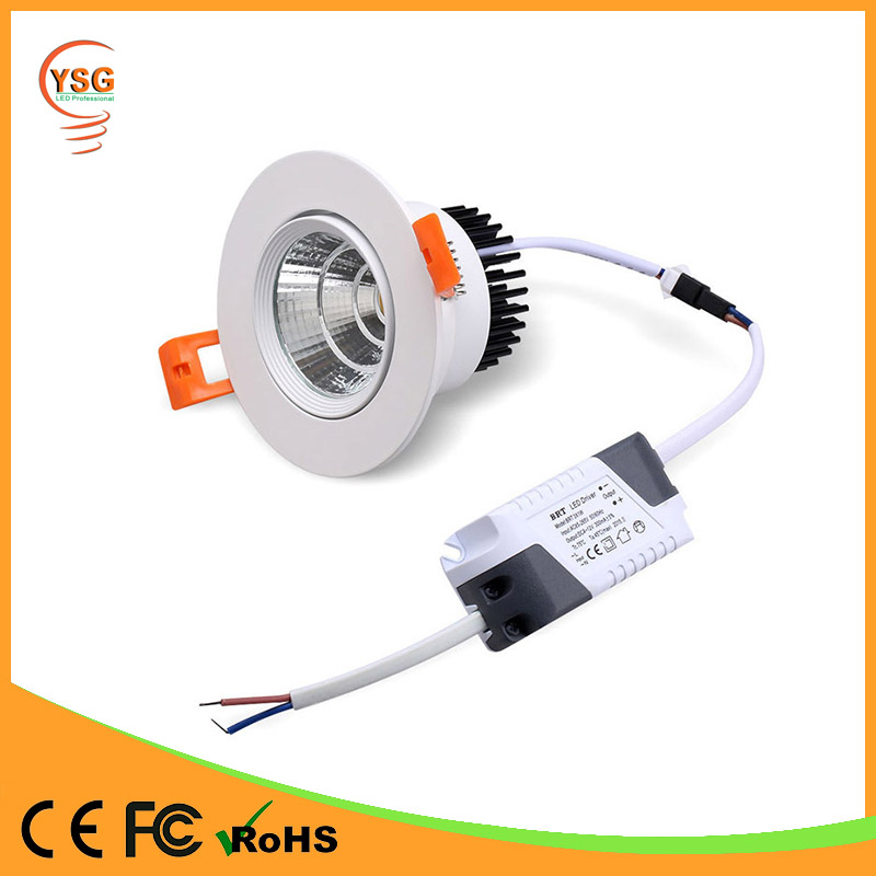 High lumen surface mounted cob recessed 7w 9w 18w 20w led downlight
