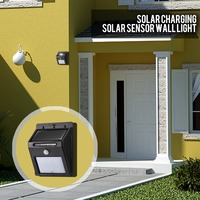 8 LED's Solar Power Kits Light Waterproof Lamp Outdoor Garden Path Security Motion Sensor Wall Wireless Home,Porch,Stairs Light