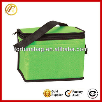 6 can promotional cheap non woven cooler bag lunch bag picnic bag