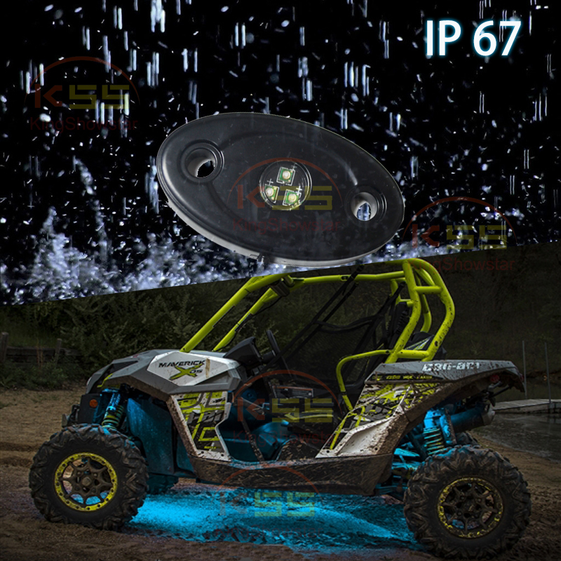 super bright 4 x pods 9W Yellow Blue Amber White Green Red Color car underboly led Rock Light trucks SUV ATV offroad Jeep