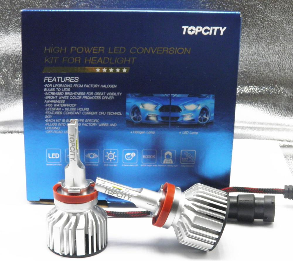 TOPCITY <strong>Car</strong> Auto <strong>Lamp</strong> LED H8 H9 Headlight Bulbs