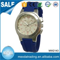 Latest Design Silicone Strap Water Resistant Sport Wrist Watch Men