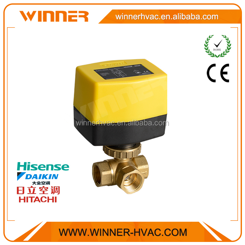 Top Quality Brass hydraulic Automatic Electric Control three 3 Way Valve