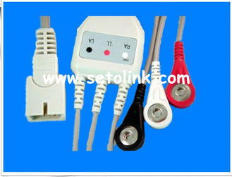 2014 LOW PRICE MEK DB9 PIN MALE WITH 3 LEADWIRES SNAP 4.0 END AHA ECG CABLE