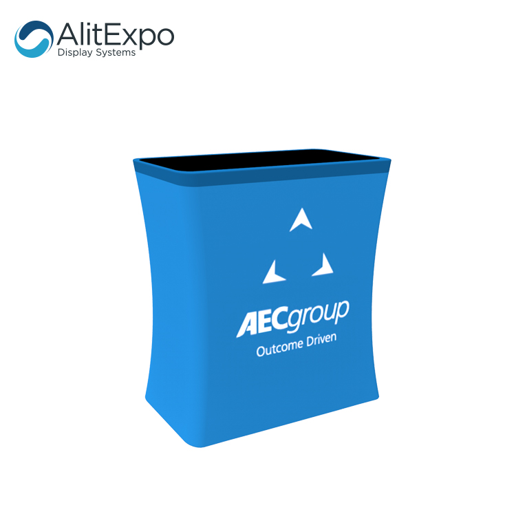 trade show exhibition tension fabric counter podium