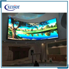 Curved LED TV custom display full color indoor p4 led screen display