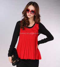 Twin Set Sweater Sets Trendy Lady Dress Woman Elegant Dresses with Flowers