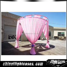 Portable pipe and drape system backdrop round pipe drape kits