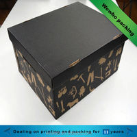 2014 hot sale delicate lid and bottom boot box/paper shoe box