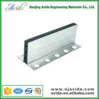 Rubber insert stainless steel tile expansion joint for marble floor