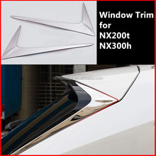 rear window chrome trim for NX200t NX300h NX F SPORT window chrome exterior accessories