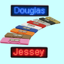S1144 Magnetic Wearable Reusable LED Name Badge
