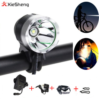 2 in 1 Outdoor Bike Light 1200 lumen Headlamp high power T6 led bicycle light Waterproof Bike Front Light with battery pack