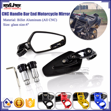 BJ-RM-061B Aftermarket Kawasaki Ninja 250 300 CNC Aluminum Motorcycle Bar End Mirror