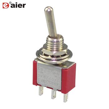 MTS-102 ON-ON SPDT 3Pins Toggle Switch