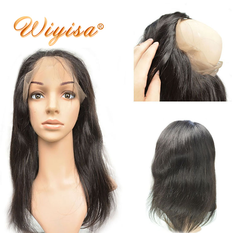 Wholesale virgin Brazilian hair 100% Human Hair 360 Lace Frontal With Bundles