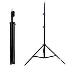 china factory foldable light stand 2 meter professional phone camera tripod with 1/4 screw