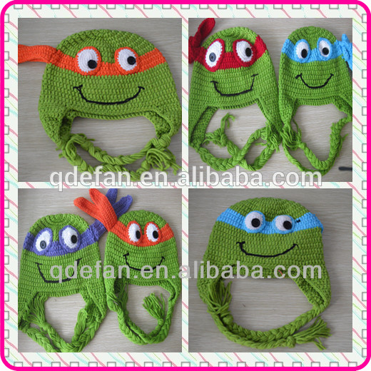 winter monster ninja turtle minion car handmde knit crochet hats for babies kids children