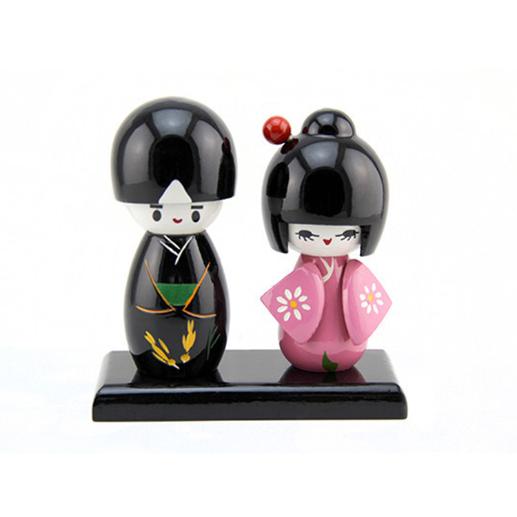 FQ brand handmade girls beautiful wooden wedding japanese kokeshi doll