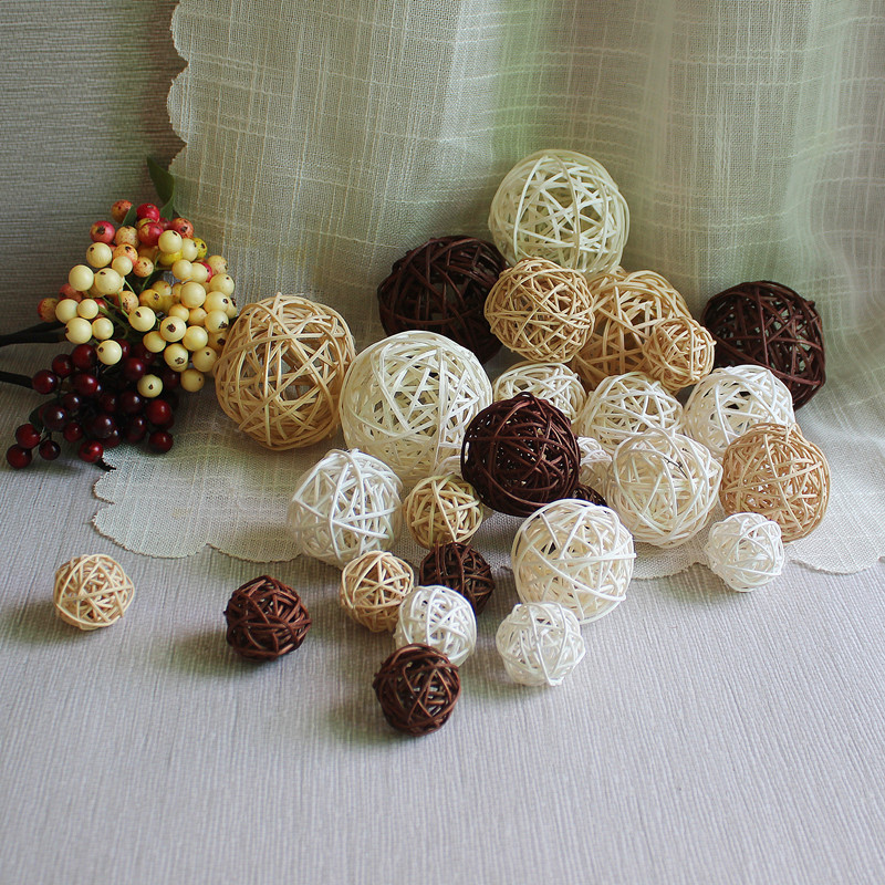 wholesale hand knitting party christmas wooden hanging decorative ball