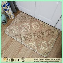 Wholesale custom printed polyester silicone floor door mat