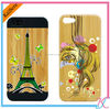 New arrival Fashion logo print Wood mobile phone Case / Wooden cellphone cover/Shell