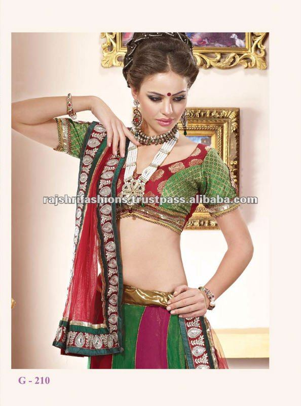 Beautiful Brocket Rasham Work Lehenga Choli