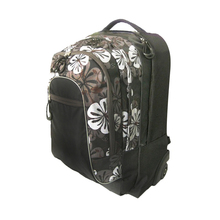 New Products Floral printed Polyester Trolley School Bag