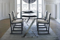 Divany Furniture modern dinning table black lacquer dining room furniture sets