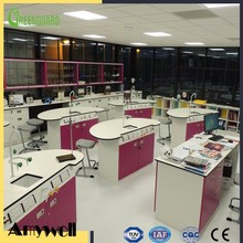 Amywell Chemical resistant hpl phenolic resin laboratory formica worktops for school