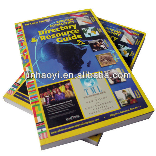 Shenzhen factory printing yellow pages / softcover yellowpages printing