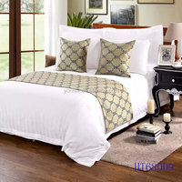 Jacquard hotel bed throws