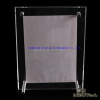 New Style Clear acrylic 4x6 table top acrylic menu holder display counter top acrylic photo frame ST-LSXK4060PV-01 Z1