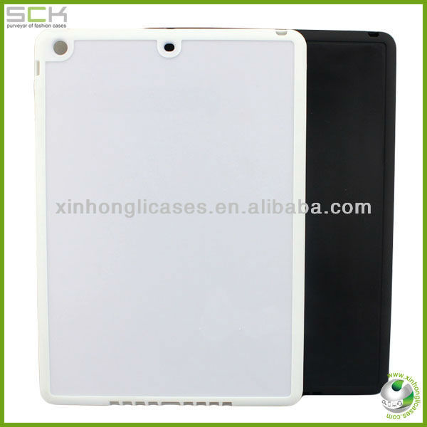 For Ipad 5 groove pc case cover new arrive raw pc case cover
