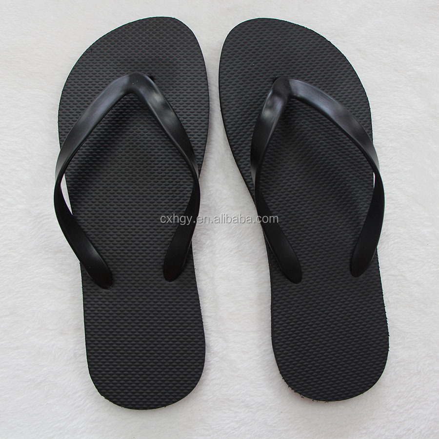 cheap wholesale black rubber flip flops