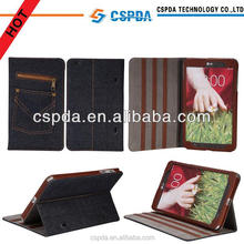 new design cute fashion Folio Denim Case for LG G Pad 8.3 Book Cove7inch 8inch 10.1icnh Stand Case