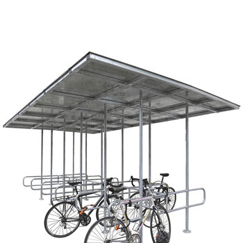 Outdoor High-grade Modernist Metal bus stop rain shelter for bicycle sotrage racks