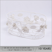 Metal Flower Shape Countertop Stand Decorative Wire Fruit Basket