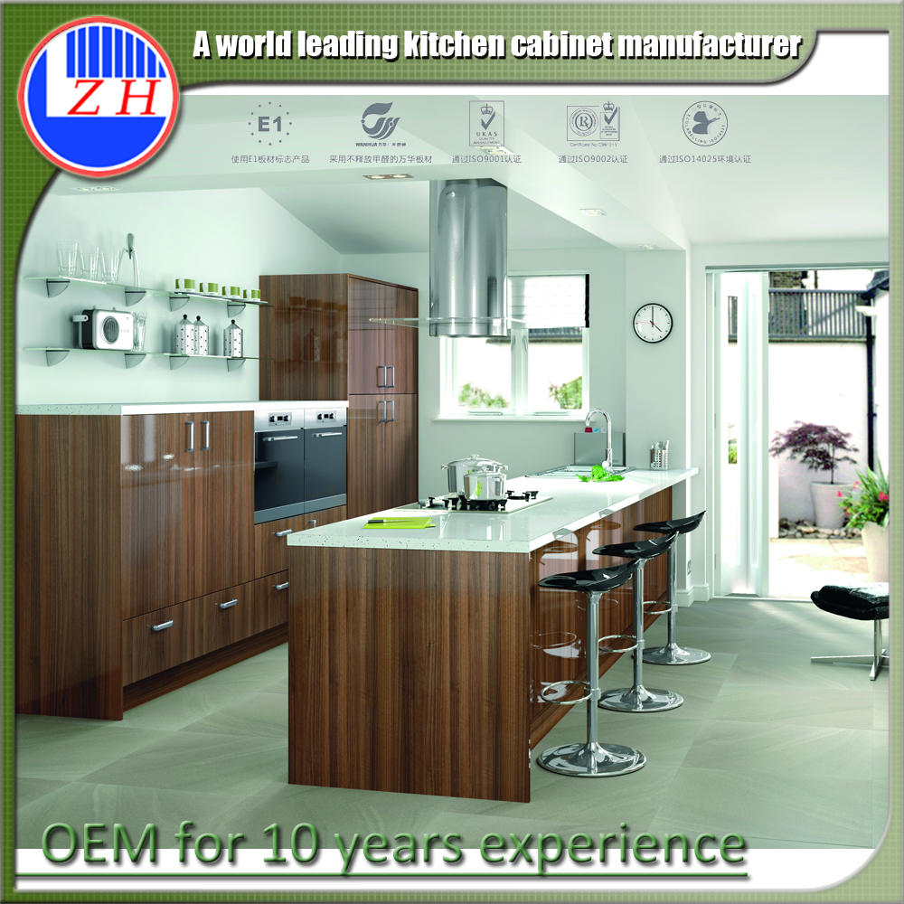 Foshan factory new model kithcen wooden discontinued natural maple shaker kitchen cabinet