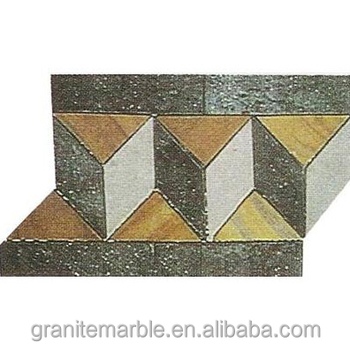 Marble mosaic border tile for border mosaic floor and wall with low price