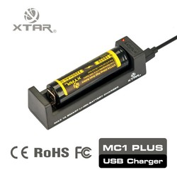XTAR MC1 Plus 0.5a 1a optional battery charger for 18650 26650 li-ion batteries
