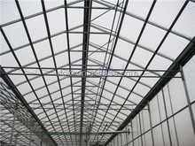 2017 Hot sell custom industrial economical Multi Span glass Greenhouse