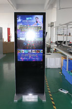 42inch standing vertical tv screen dvd hd real display ad player