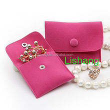 Good quality rose red velvet buckle bag /pouch bag/jewelry storage bag