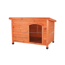 Classic pitch roof cheap wooden dog kennel wholesale