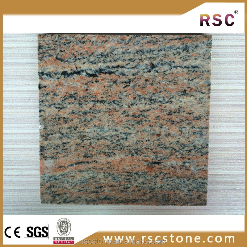 Multicolor red granite types stone tile