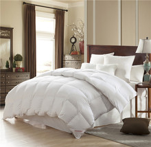 95% White Goose Down Comforter/Quilt/Duvet 100% Natural Cotton Fabric Quilt ,750+FP,Soft and Fluffy