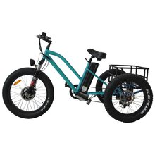 Aluminum Alloy 3 Wheel E Bike Trike Fat Tire Electric Tricycle with Passenger Seat for sale