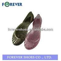 2013 Hot sale PVC Jelly shoes wholesale for adults