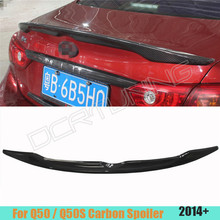 Q50 Q50s Car Carbon Fiber Rear Trunk Spoiler for Infiniti Q50 Q50s Spoiler